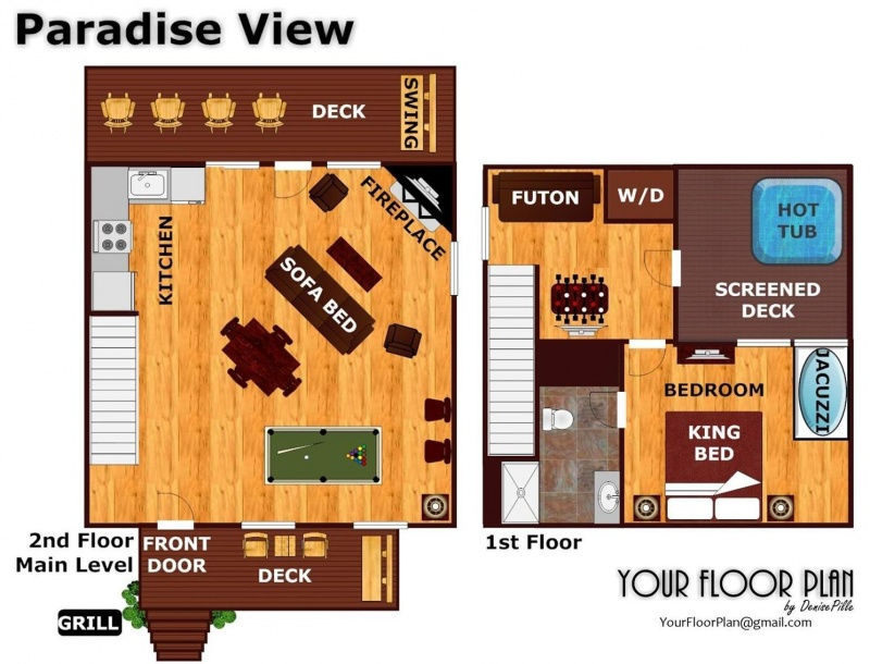 Paradise View A Pigeon Forge Cabin Rental – Forge Wood Site Plan