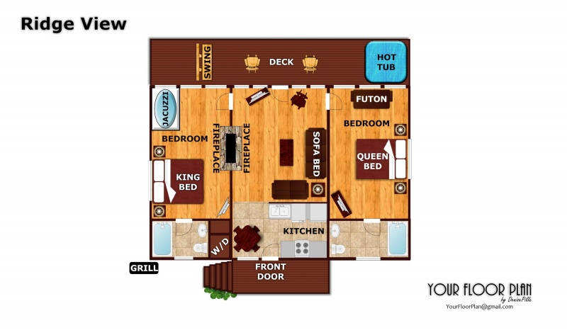 Ridge View A Pigeon Forge Cabin Rental – Forge Wood Site Plan