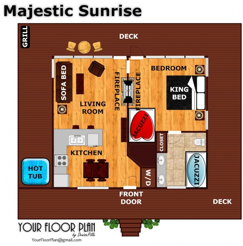 Majestic Sunrise A Pigeon Forge Cabin Rental – Forge Wood Site Plan