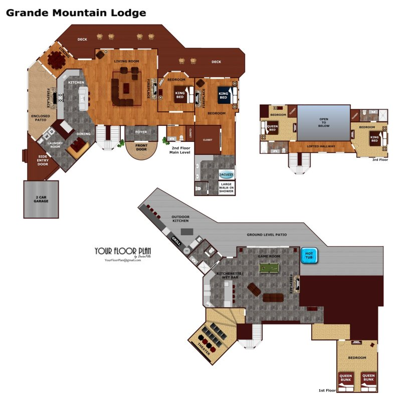 Grande Mountain Lodge A Pigeon Forge Cabin Rental